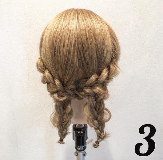 憧れの素敵なレディになれちゃう♪三つ編みだけでつくるまとめ髪アレンジ3