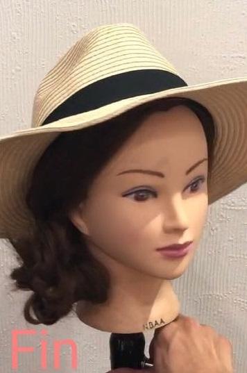 麦わら帽子にぴったりのサイドシニヨンアレンジ☆TOP