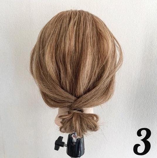 ピン無しでできる♪簡単で可愛いまとめ髪アレンジ ☆3