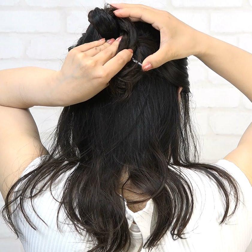 ガラッと雰囲気が変わる夜会風まとめ髪2