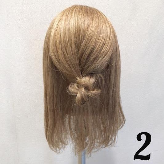 浴衣の時にしたい♡ミディアムヘアの三つ編みお団子アレンジ ◎2