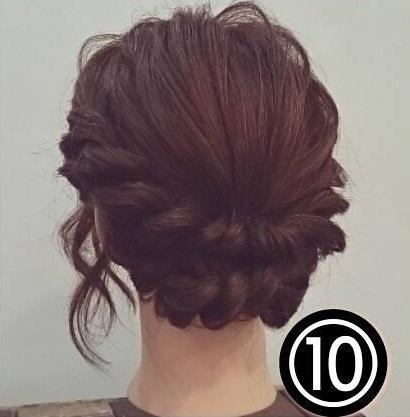 ドレスに合わせたい♡ミディアムの方向けのロープ編みアップスタイル○TOP