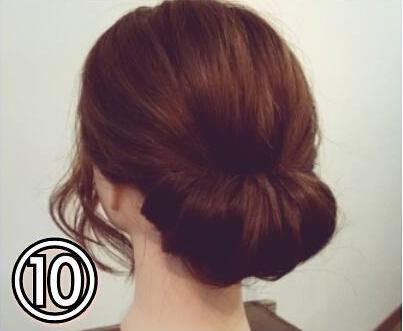 夏のまとめ髪に☆簡単ギブソンタックアレンジtop