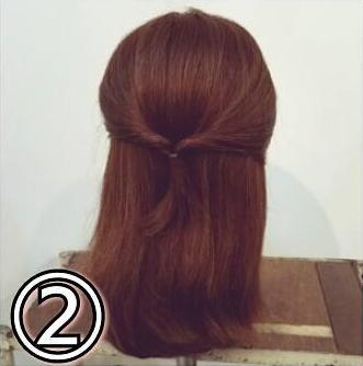 夏のまとめ髪に☆簡単ギブソンタックアレンジ2