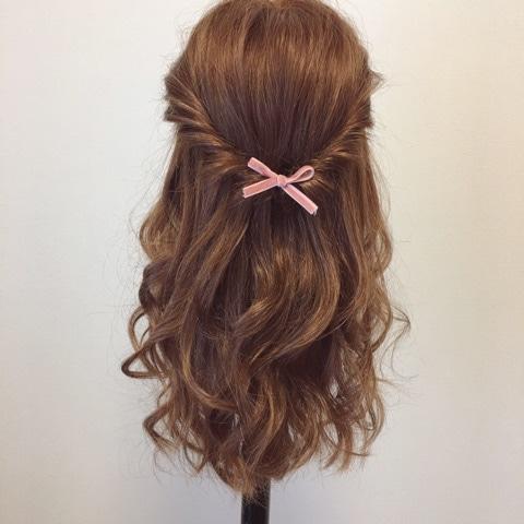 髪が硬い方&多い方にオススメ☆超簡単ハーフアップアレンジtop