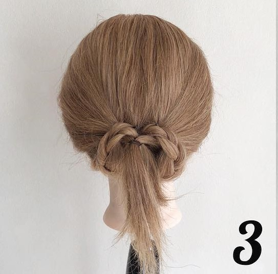 三つ編みで浴衣にも良く似合う☆ヘアアクセが映えるまとめ髪アレンジ3