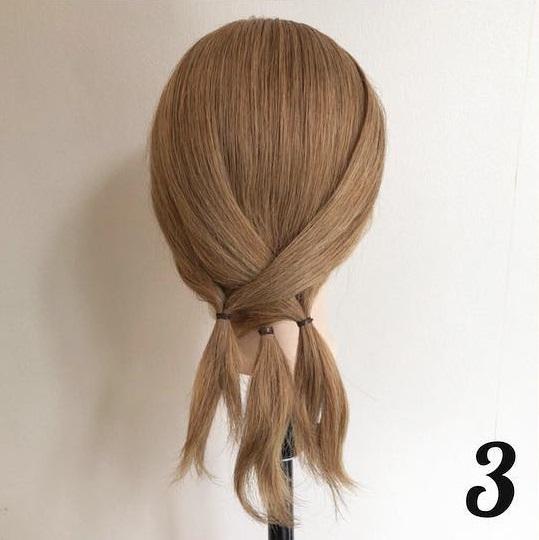 どんな髪質の人でもヘアアレンジを楽しめる♪ちょっと変わった簡単ローポニーアレンジ☆3