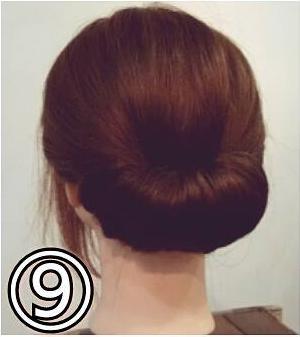夏のまとめ髪に☆簡単ギブソンタックアレンジ9
