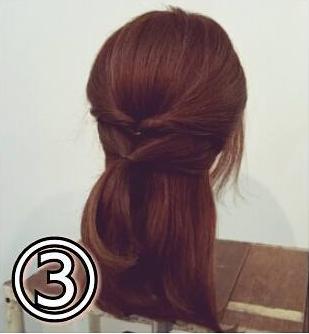 夏のまとめ髪に☆簡単ギブソンタックアレンジ3