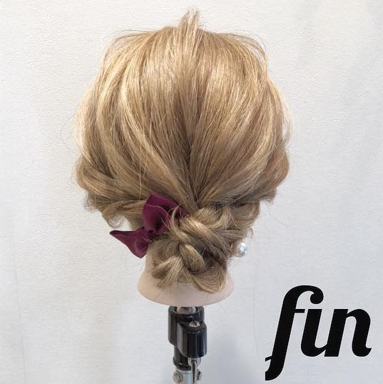 浴衣の時にしたい♡ミディアムヘアの三つ編みお団子アレンジ TOP