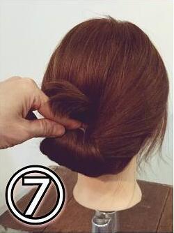夏のまとめ髪に☆簡単ギブソンタックアレンジ7