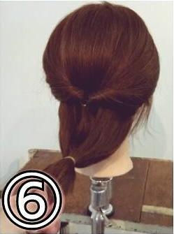 夏のまとめ髪に☆簡単ギブソンタックアレンジ6