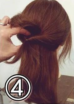 夏のまとめ髪に☆簡単ギブソンタックアレンジ4