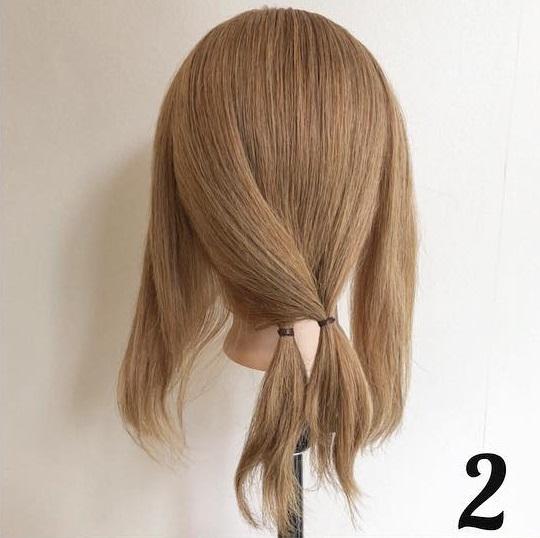 どんな髪質の人でもヘアアレンジを楽しめる♪ちょっと変わった簡単ローポニーアレンジ☆2