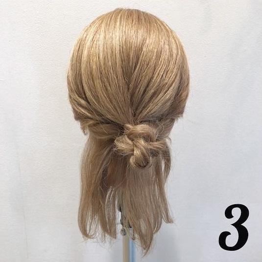 浴衣の時にしたい♡ミディアムヘアの三つ編みお団子アレンジ ◎3
