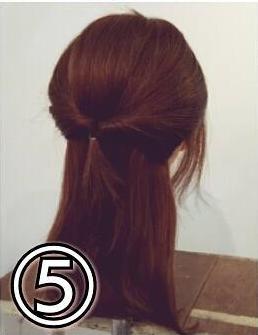 夏のまとめ髪に☆簡単ギブソンタックアレンジ5