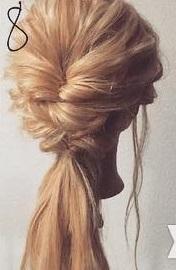 四つ編みで立体的に♪女の子らしい華やかな編み下ろしアレンジ♡8