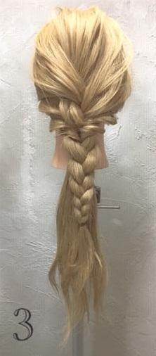 アラジンのジャスミン風☆三つ編み×くるりんぱでつくる編み下ろしアレンジ3