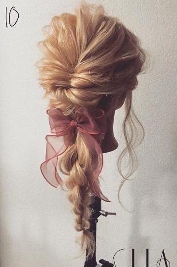 四つ編みで立体的に♪女の子らしい華やかな編み下ろしアレンジ♡TOP