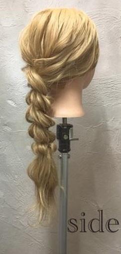 お姫様のような華やかさ♡大きな編み下ろしヘアアレンジSIDE