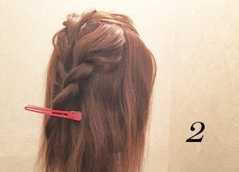 ロープ編みが可愛い♪浴衣でもお呼ばれでも活躍するまとめ髪アレンジ2