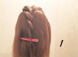 ロープ編みが可愛い♪浴衣でもお呼ばれでも活躍するまとめ髪アレンジ1