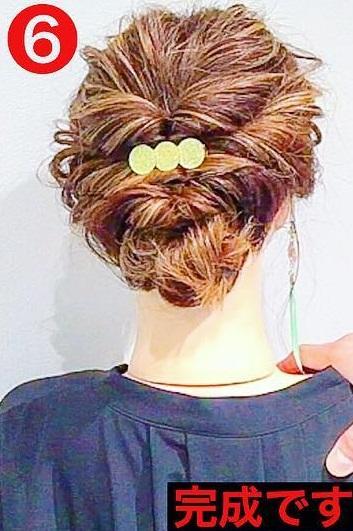 浴衣アレンジにもぴったり◎くるりんぱ×ねじりだけでできちゃう簡単まとめ髪アレンジtop