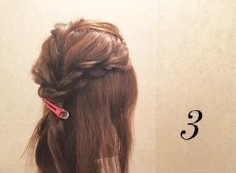 ロープ編みが可愛い♪浴衣でもお呼ばれでも活躍するまとめ髪アレンジ3