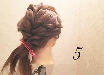 ロープ編みが可愛い♪浴衣でもお呼ばれでも活躍するまとめ髪アレンジ5