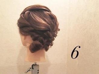 ロープ編みが可愛い♪浴衣でもお呼ばれでも活躍するまとめ髪アレンジ6