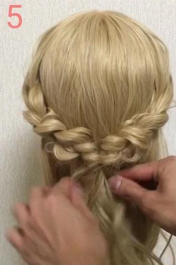 オールシーズン使える♪三つ編みでつくる、Girlyハーフアップヘアアレンジ♡ 5