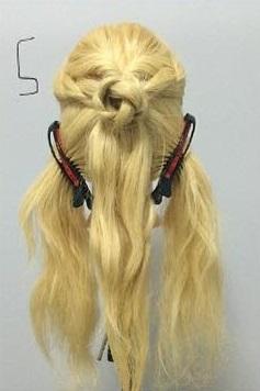 まるでバラ?!華やかでかわいい編みおろしアレンジ♡5