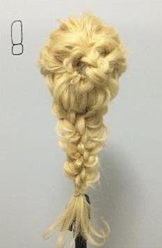 まるでバラ?!華やかでかわいい編みおろしアレンジ♡8