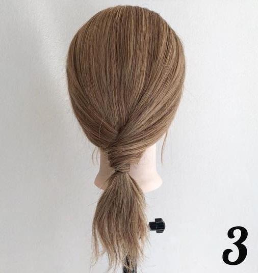 髪を巻きつけて結ぶだけでできちゃう☆ミディアムさんにおすすめのポニーテールアレンジ3