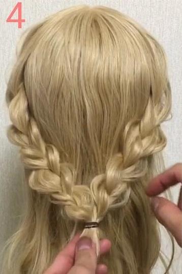オールシーズン使える♪三つ編みでつくる、Girlyハーフアップヘアアレンジ♡ 4