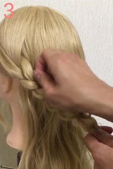 オールシーズン使える♪三つ編みでつくる、Girlyハーフアップヘアアレンジ♡ 3