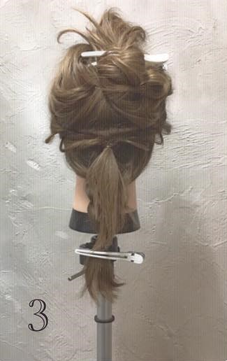 ミディアムヘアでもできる!ふんわりかわいい編み下ろしアレンジ♪ -3