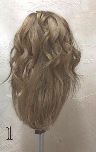 ミディアムヘアでもできる!ふんわりかわいい編み下ろしアレンジ♪ -1