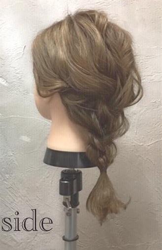 ミディアムヘアでもできる!ふんわりかわいい編み下ろしアレンジ♪ - top