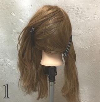 ゆるっと感がかわいい♡ガーリーな印象に仕上がる、ロープ編み込み×まとめ髪アレンジ1