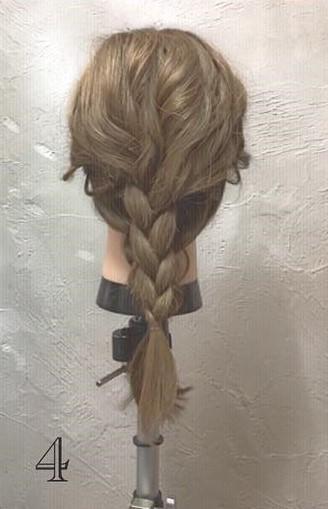 ミディアムヘアでもできる!ふんわりかわいい編み下ろしアレンジ♪ - 4