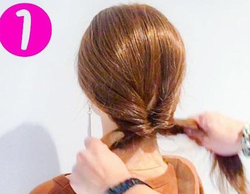ママさん必見♪子どもの行事に参加するときにぴったりのまとめ髪アレンジ1
