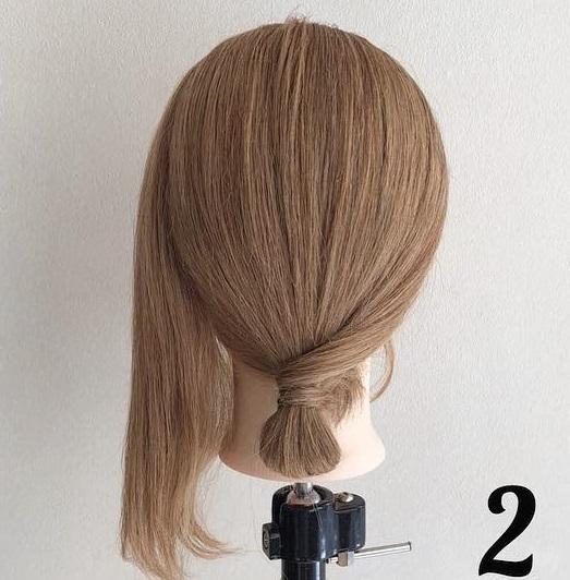 ヘアアクセサリーのダブル使いで素敵に仕上がる♪髪が短くても簡単にできちゃう、まとめ髪アレンジ2