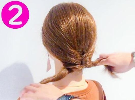 ママさん必見♪子どもの行事に参加するときにぴったりのまとめ髪アレンジ2