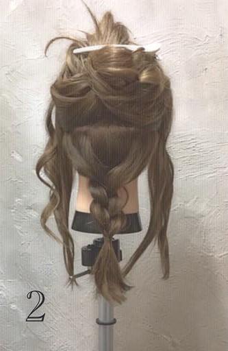 ミディアムヘアでもできる!ふんわりかわいい編み下ろしアレンジ♪ -2