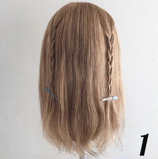 チラ見えする三つ編みがポイント♡簡単ステップで女の子らしさ全開ローポニ―♪ 1