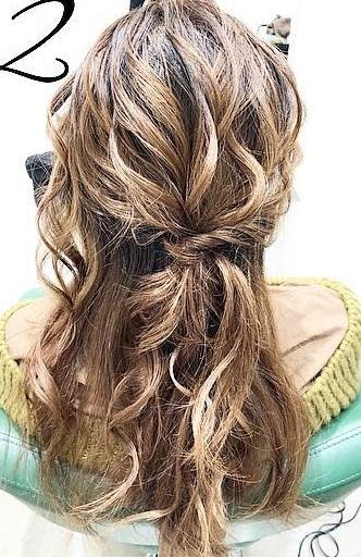 巻き髪でボリュームアップ☆カジュアルなのに華やかに決まるダウンスタイル2