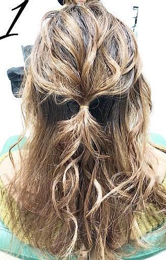 巻き髪でボリュームアップ☆カジュアルなのに華やかに決まるダウンスタイル1