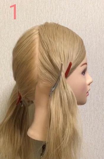 急なお呼ばれにも◎自分でできるのが魅力的なまとめ髪アレンジ1
