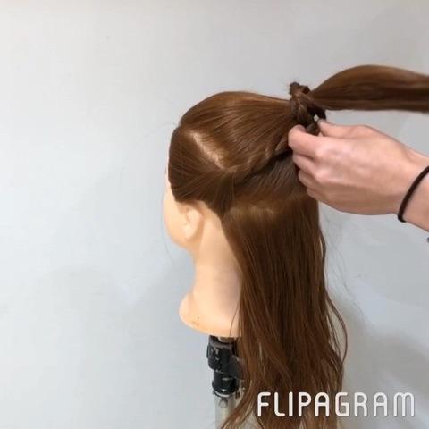 一度は試したい憧れヘア♪カッコカワイイお団子アレンジ3